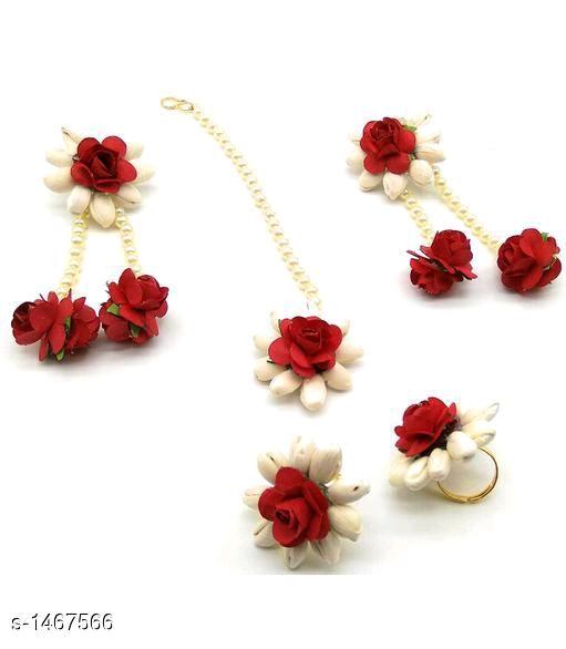 Flower Earings With Maang Tikka Abohar Punjab Nomtimes India